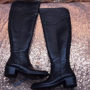 Vince Camuto Black Over the Knee Boots 7M WC